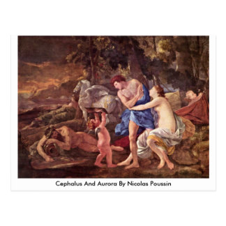 Cephalus And Aurora By Nicolas Poussin Postcard