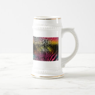Ceramic Abstract 18 Oz Beer Stein