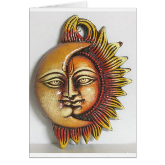 CERAMIC ABSTRACT SUN AND MOON CARD