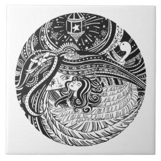 Ceramic Art Tile_Little Match Girl_black angel Tile