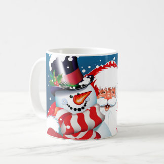 Ceramic Coffee Mug-Santa & Frosty Coffee Mug