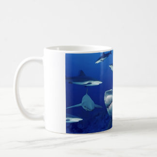 Ceramic Coffee Mug-Sharks Coffee Mug
