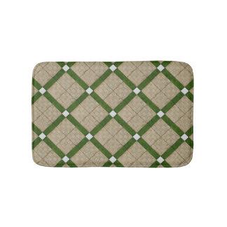 Ceramic Concrete Diagonal Tiles Mediterranean Bath Mat