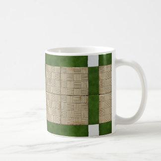 Ceramic Concrete Tiles Green Grey Coffee Mug