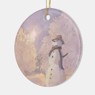 Ceramic Guardian Snowman Ornaments