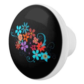 Ceramic Knob Beautiful Floral Design