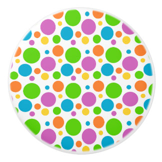 Ceramic Knob/Colorful Polka Dots Ceramic Knob