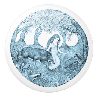 Ceramic Knob design by Rebekah van Kan