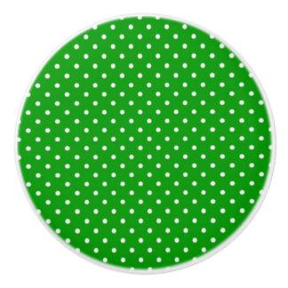 Ceramic Knob/Green Polka Dots Ceramic Knob