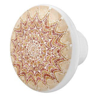 Ceramic Knob Lovely Mandala Abstract Design