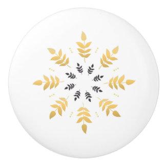 Ceramic knob with handdrawn Mandala