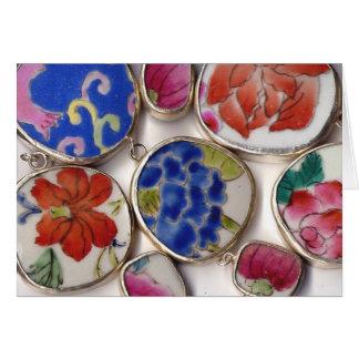 Ceramic Ming Dynasty Pottery Shards Card