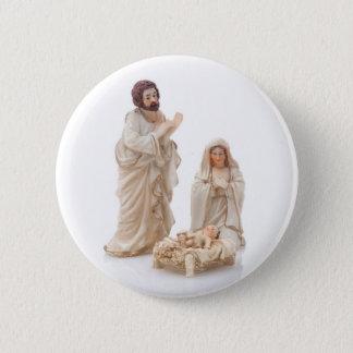Ceramic nativity scene 2 inch round button