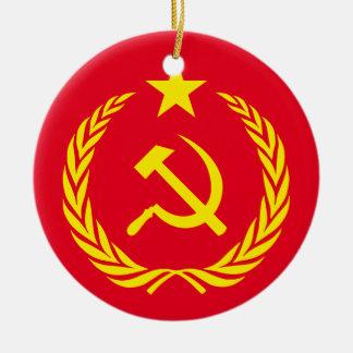 Ceramic Ornament Cold War Communist Flag