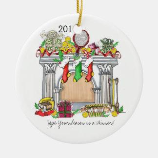 Ceramic Ornament -Tennis Mantal 2011