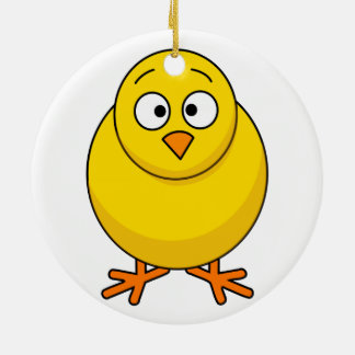 Ceramic Ornaments With Baby Chick