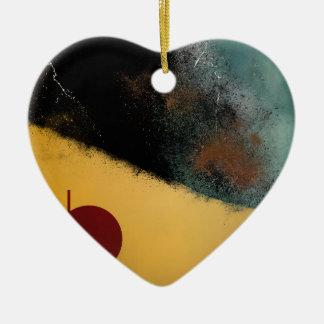 Ceramic Pixels Abstract pressionistiArt Ceramic Heart Ornament