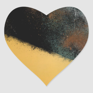 Ceramic Pixels Abstract pressionistiArt Heart Sticker