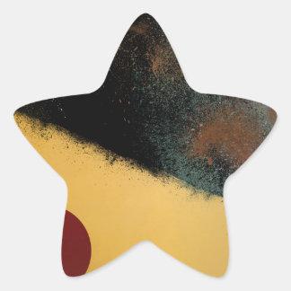 Ceramic Pixels Abstract pressionistiArt Star Sticker