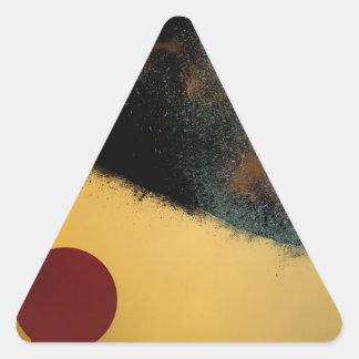 Ceramic Pixels Abstract pressionistiArt Triangle Sticker