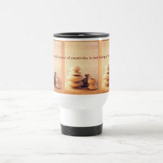 Ceramic Pottery Still Life I - Light and Shadow Travel Mug