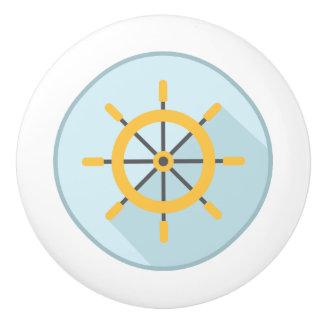 Ceramic Pull, Coastal Living Design, Ships Wheel Ceramic Knob