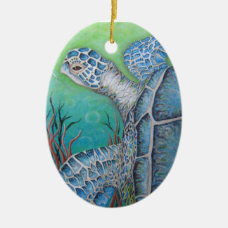 Ceramic Sea Turtles Ornament