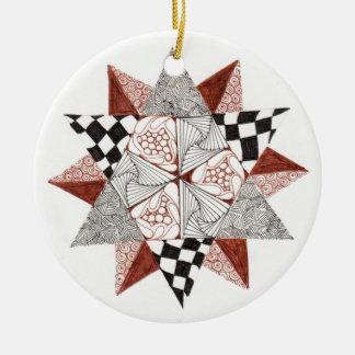 Ceramic Star Zendala Ornament
