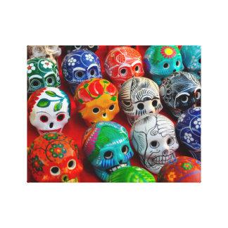 Ceramic Sugar Skulls in Mexico Canvas Print