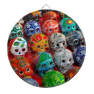 Ceramic Sugar Skulls in Mexico Dartboards