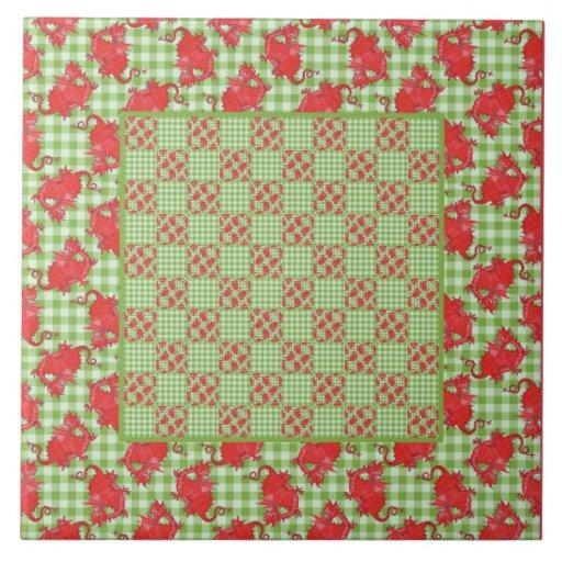 Red Dragon Tile : Red welsh dragon tiles ceramic