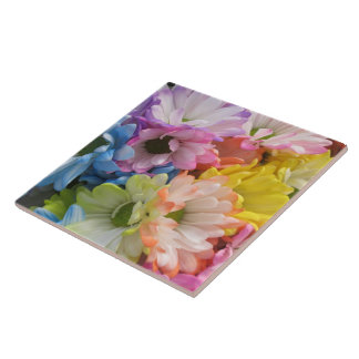 Ceramic Tile - MultiColored Daisies II