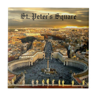 Ceramic Tile, St. Peter's Square Tile