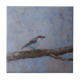 Ceramic Tile with Brown Headed Nuthatch #1