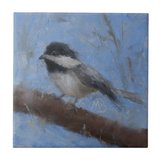 Ceramic Tile with Chickadee #2