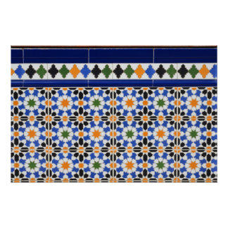 Ceramic tiles from Granada Poster