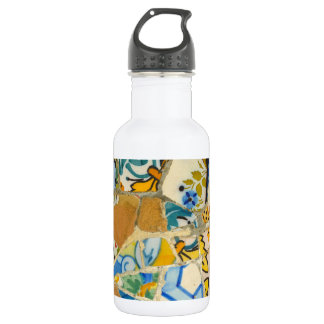 Ceramic Tiles in Parc Guell in Barcelona Spain 532 Ml Water Bottle