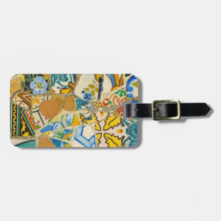 Ceramic Tiles in Parc Guell in Barcelona Spain Luggage Tag