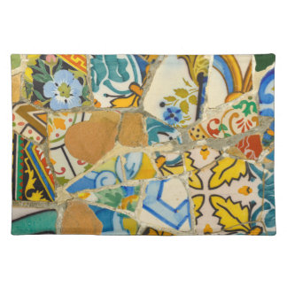 Ceramic Tiles in Parc Guell in Barcelona Spain Placemat
