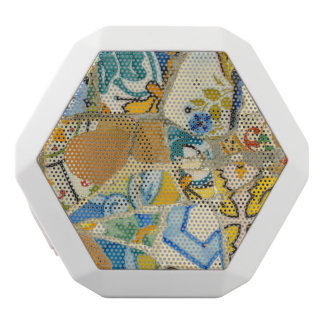 Ceramic Tiles in Parc Guell in Barcelona Spain White Bluetooth Speaker