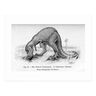 Ceratosaurus art postcard