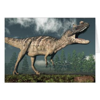 Ceratosaurus dinosaur - 3D render Card