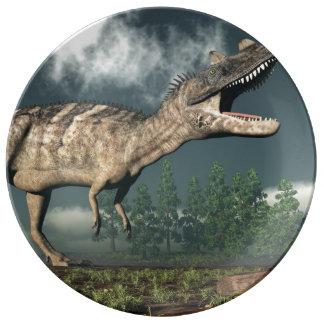 Ceratosaurus dinosaur - 3D render Porcelain Plate