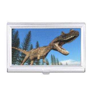 Ceratosaurus dinosaur at the shoreline - 3D render Business Card Holder