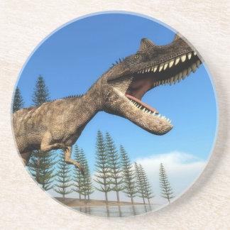 Ceratosaurus dinosaur at the shoreline - 3D render Coaster