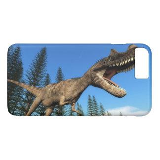 Ceratosaurus dinosaur at the shoreline - 3D render iPhone 8 Plus/7 Plus Case