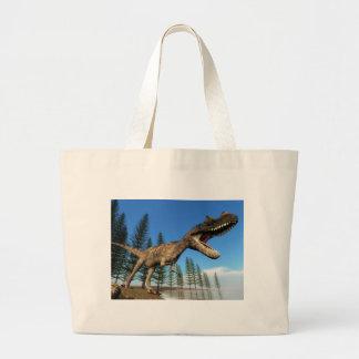 Ceratosaurus dinosaur at the shoreline - 3D render Large Tote Bag