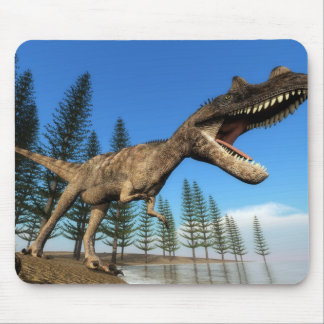 Ceratosaurus dinosaur at the shoreline - 3D render Mouse Pad