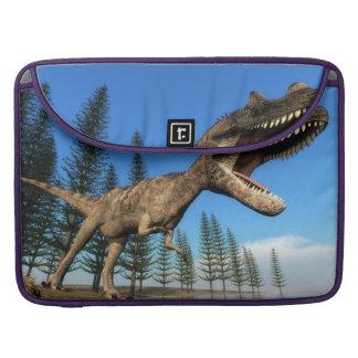 Ceratosaurus dinosaur at the shoreline - 3D render Sleeve For MacBook Pro