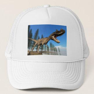 Ceratosaurus dinosaur at the shoreline - 3D render Trucker Hat